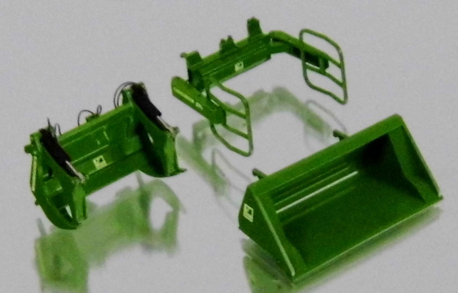 John deere traktor mit verdeck und frontlader grün